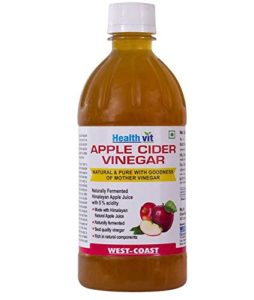 Healthvit Apple Cider Vinegar 500ml - With Mother Vinegar, Raw, Unfiltered & Undiluted