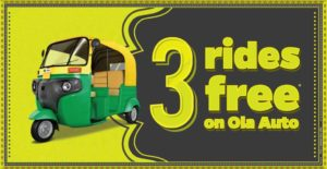 Ola Cabs- Get your first 3 Ola Auto rides