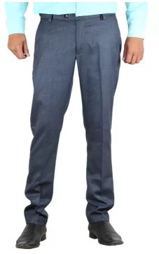 Vandnam Fabrics Skinny Fit Men's Blue Trousers