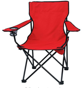 Story@Home Quad Portable Folding Camping Chair, Red at rs.899