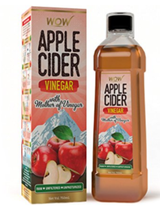 Amazon – Buy WOW Raw Apple Cider Vinegar – 750 ml with strand of mother at Rs.259 only image