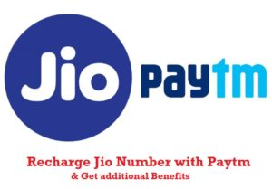 Paytm - Get flat Rs 50 cashback on new JIO SIM recharge of