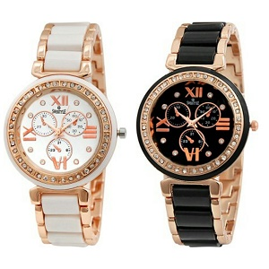 Amazon - Buy Swisstyle Combo of 2 Analogue Womens Watches for Rs 404 (Rs 202 watch) with APay