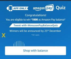 Amazon Pay balance quiz answers added