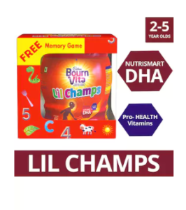 Bournvita Lil Champs 500g Jar with Free Memory game at rs.192
