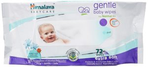 Buy Himalaya Gentle Baby Wipes (72 Count, Pack of 3) for Rs.333 only