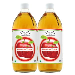 Buy Sinew Nutrition Raw Apple Cider Vinegar – 350ml (Pack of 2) for Rs.155 only