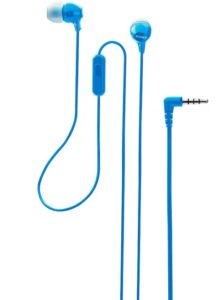 Buy Sony MDR-EX14AP Headset with Mic (Blue, In the Ear) for Rs.499 only
