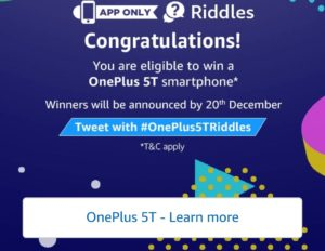 Congratulations all answers correct oneplus 5T Riddles