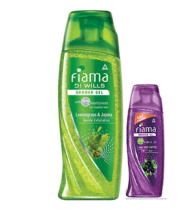 Fiama Lemongrass & Jojoba Shower Gel 250 ml + Free Blackcurrant & Bearberry 100ml Shower Gels