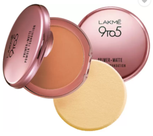 Lakme 9 to 5 Primer Plus Matte Powder Foundation Compact - 9 g (Ivory Cream)