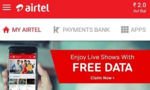 My Airtel app 10 gb data free every month for 6 months doanload airtel tv app
