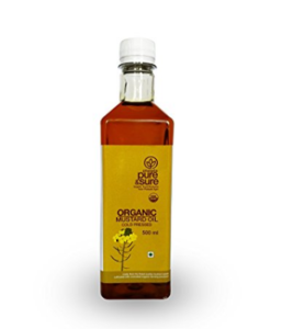 Pure & Sure Organic Mustard Oil, 500ml at rs.142