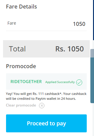 RIDETOGETHER paytm code