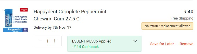 Happydent Complete Peppermint Chewing Gum Promo Code