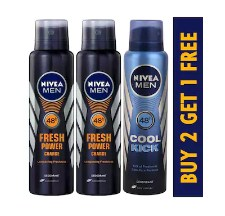 Buy 2 Nivea Men Fresh Power Charge Deodorant &