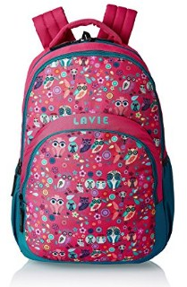 Lavie Synthetic Pink School Bag