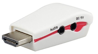 Rts&Trade HDMI Male To VGA Female Cable With Audio Converter (White)