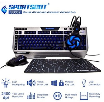 SportsBot SS302 4-in-1 LED Gaming Kit