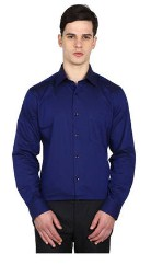 Arrow Navy Men Regular Shirts