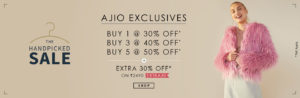 (Suggestions Added) AJIO LoOT- Buy 5 products and get 50% Off + Extra 30% Off + Rs 150 PayTM Cashback + Many Other Offers best offer