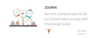 Zoomin Freecharge offer