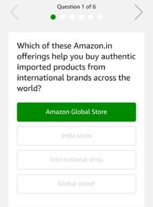 amazon black friday quiz win Rs 10000 questions answers