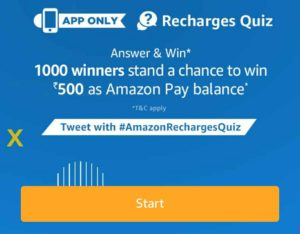 amazon win Rs 500 amazon pay balance 21st November quiz time all answers