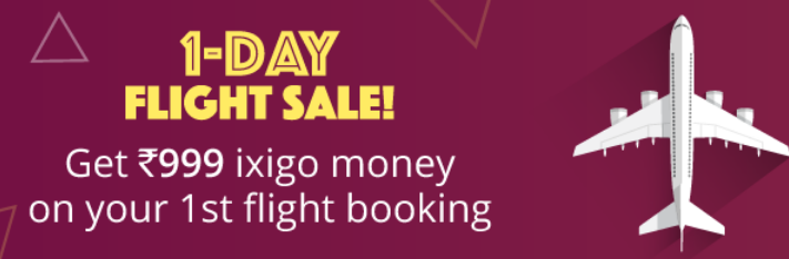 ixigo 1 day sale