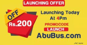 Abubus- Get Flat Rs.200 Off on Bus Ticket Booking of Rs.250 of More