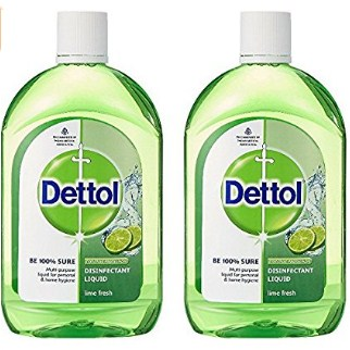 Amazon - Buy Dettol Disinfectant Multi-Purpose Liquid Lime Fresh- 500 ml (Pack of 2) at Rs.180 with APay Balance