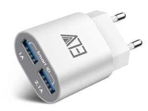 Amazon-Buy ELV 2 Port Auto Detect Technology USB Wall Travel Charger Adapter at Rs 299