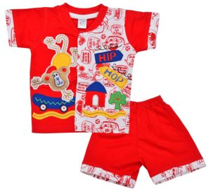 Amazon- Buy Little Hub Baby Boys' Cotton Clothing Set (0-3 months) at Rs.130 Only