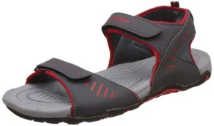 Amazon- Buy Lotto Men's Grey/Red Sandals and Floaters