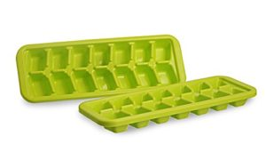 Buy All Time Plastics Cool Ice Cube Tray Set, Set of 2, Green for Rs.58 only