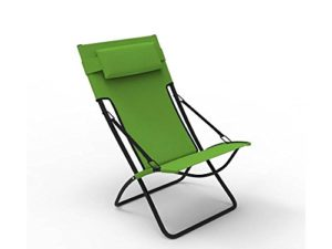 Buy Forzza Samui Folding Outdoor Recliner Sun Chair (Apple Green) for Rs.1,699 only