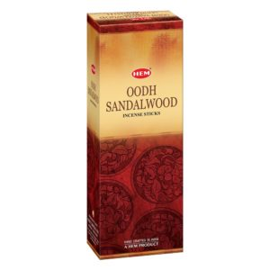 Buy Hem Oodh Sandalwood Incense Sticks (9.3 cm X 6.0 cm X 25.5cm, Black ) for Rs.117 only