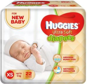 Buy Huggies Ultra Soft Diaper - XS (22 Pieces) for Rs.99 only