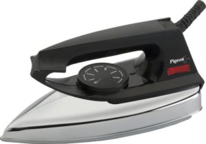 Buy Pigeon Favourite 750 W Dry Iron (Black) For Rs.319 only