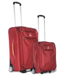 Buy Swiss Military Red Set of 2 Medium & Small Check-in soft Luggage For Rs.7,397