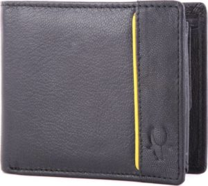 Buy WildHorn Men Casual, Formal Black Genuine Leather Wallet (6 Card Slots) For Rs.299 only