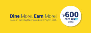 Eazydiner Paytm Offer