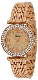 Fabiano New York Casual & Party-Wedding Rose Gold Metal Women & Girls Analog Wrist Watch FNY095