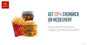 Freecharge McDelivery Offer