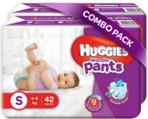 (Back) Flipkart – Buy Huggies Wonder Pants Small Size Diapers – S (84 Pieces) at Rs 475 only (52% off) image