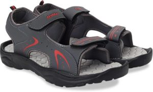 Lotto Men Grey/Red Sports Sandals at only Rs 269