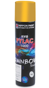 Nippon Paint Ryo Pylac 1000 Spray Paint (300 ml, RS-Gold) at rs.133