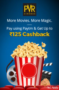 PVR Cinemas Paytm Offer