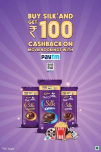 Paytm – Rs100 Movie Coupon on Purchase of Dairy Milk