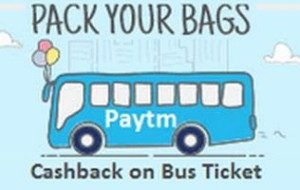 Paytm- Get Flat 20% Cashback on Bus and Flight ticket bookings